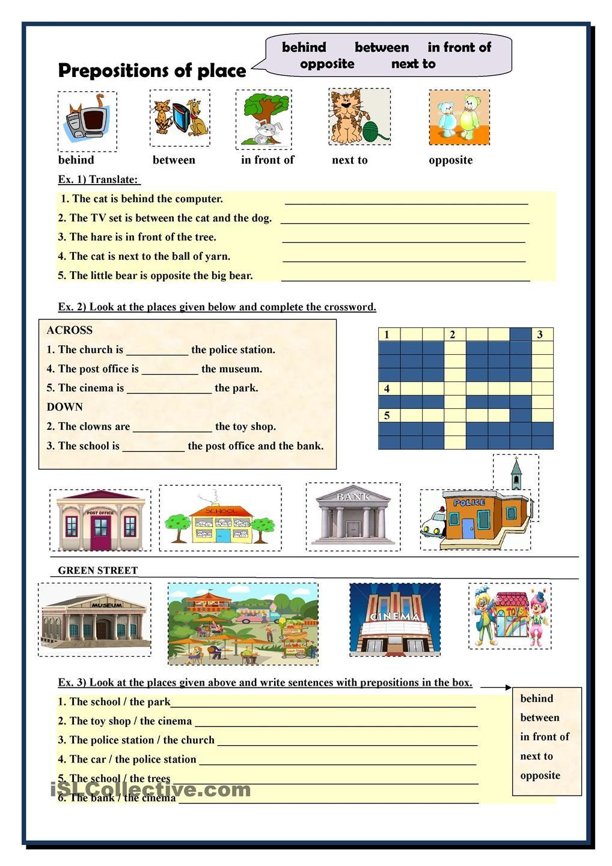 worksheet Esl Preposition Worksheets prepositions of place esl worksheets the day pinterest worksheets