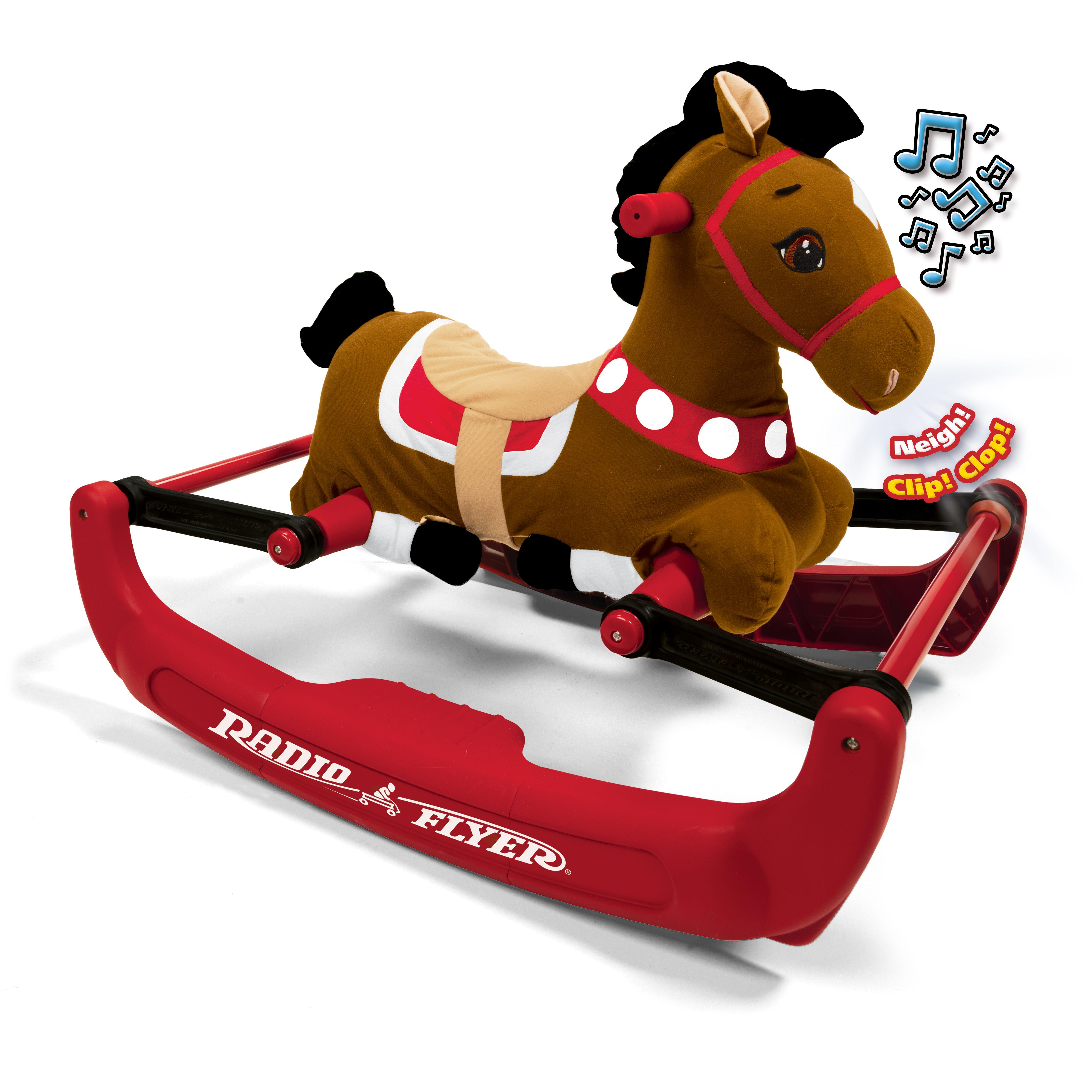 Radio Flyer Soft Rock & Bounce Pony with Sound
