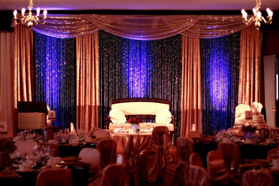 Aisha Talal S Wedding Gold Reception Royal Blue And Gold