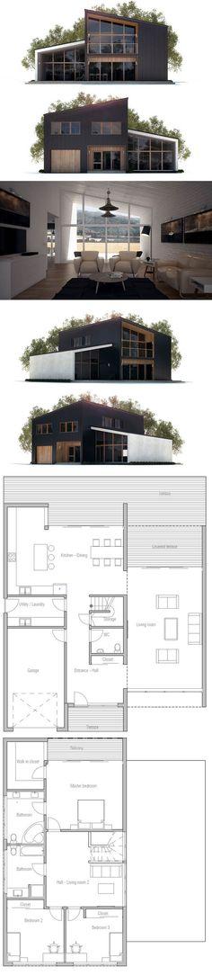 Plan de Maison, Maison Minimalist art Pinterest Architettura - Plan De Maison Moderne
