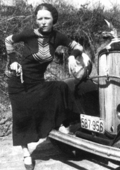 Bonnie Parker The Real Bonnie Clyde 1933 Bonnie Parker