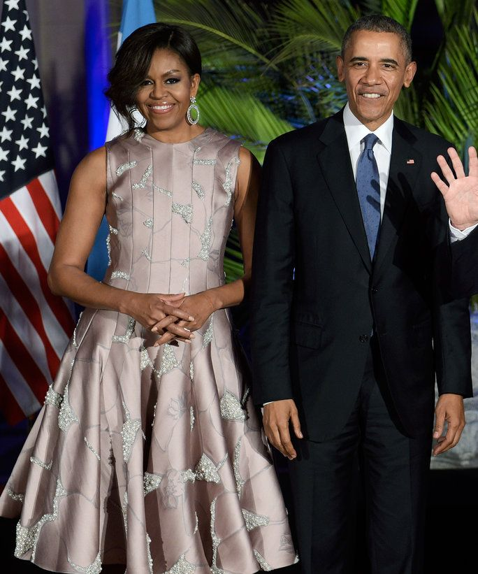 Michelle Dances The Tango In A Shimmery Dress At Argentina S State Dinner