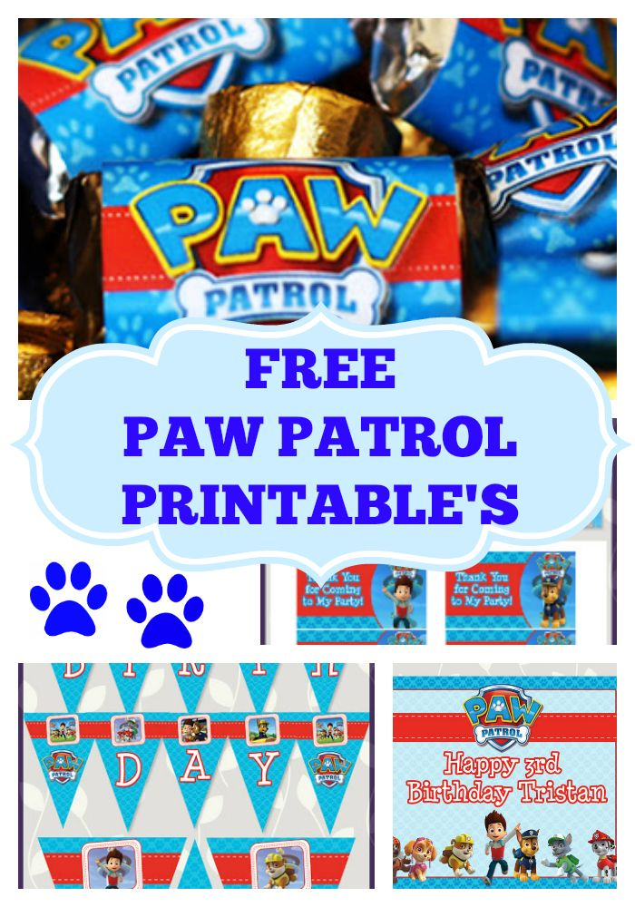 Little Wish Parties Free Paw Patrol Birthday Party Printables