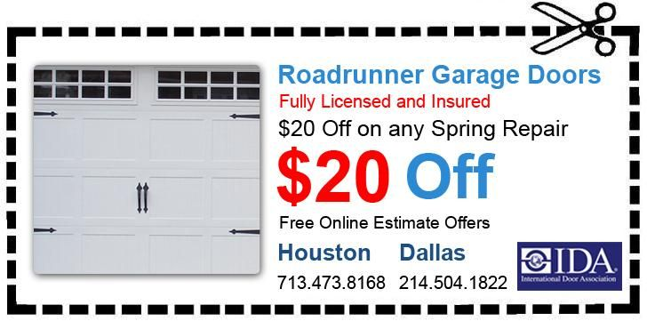20 Off On Any Garage Door Repair In Houston Dallas Fort Worth