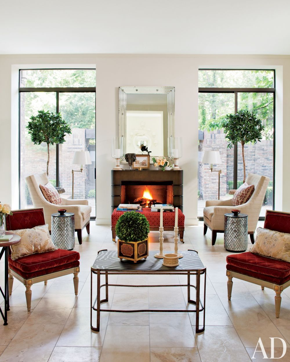 Betterdecoratingbible: Plaster-walls-traditional-living-room-david-easton-inc