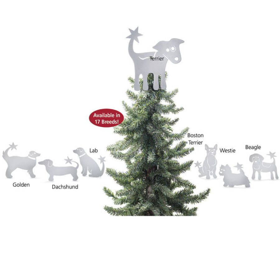Very Cool Christmas Tree Topper for Dog Lovers | Cool Animal Theme ...