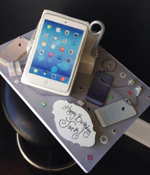 iLife iPhone Birthday Cake for Cell Phone Technology Theme by