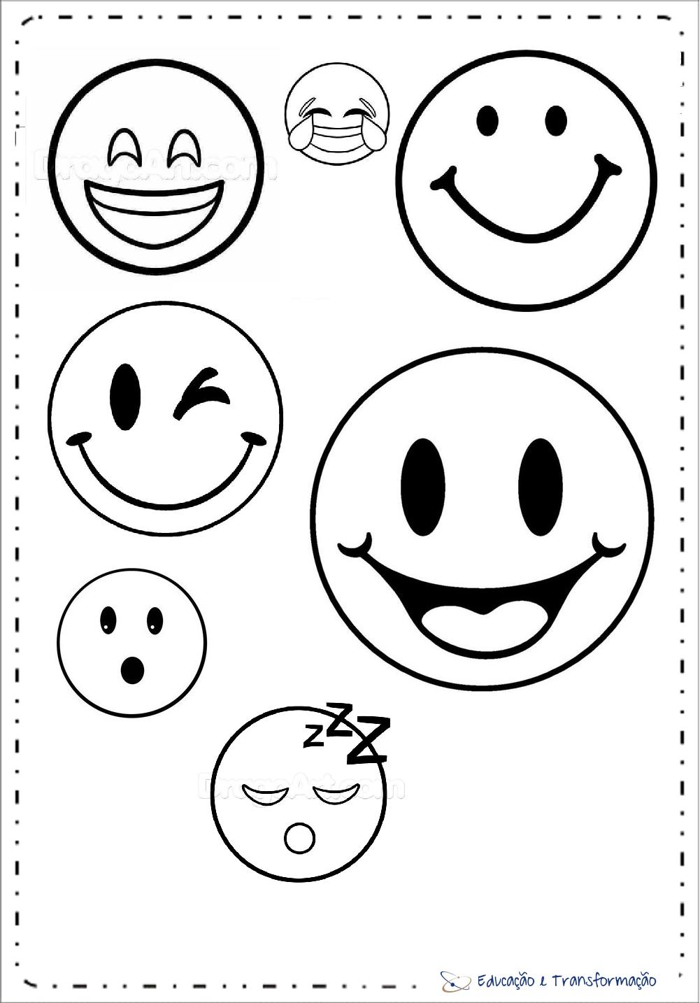 Moldes De Emoji Molde Emoji Desenho De Emoji Emoji