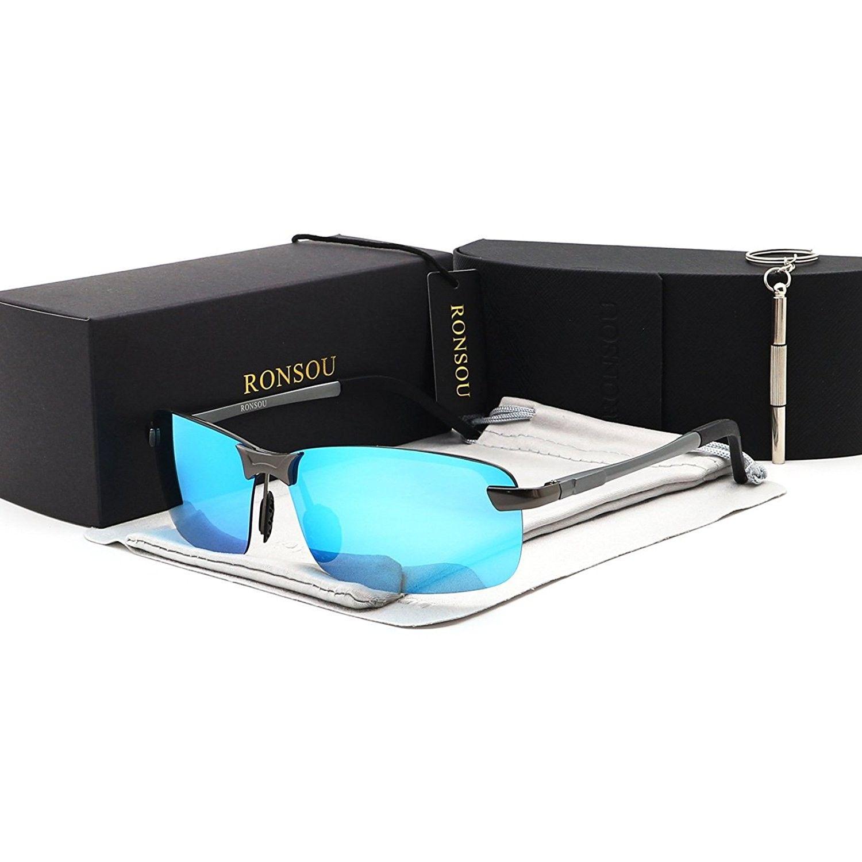 d5842d4039 Rimless Aluminium Magnesium Polarized Sunglasses Mirrored - Gray ...