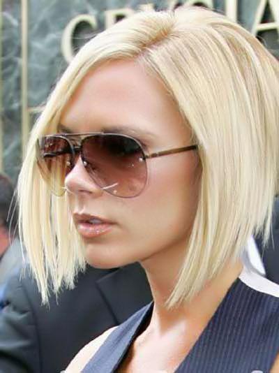 Victoria Beckham Graduated Choppy Bob Hairstyles