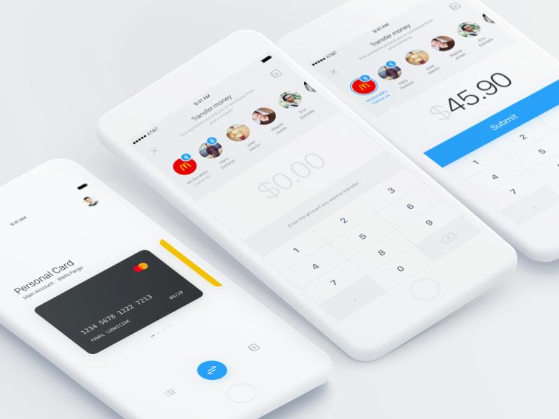 Instant Payments App design, Mobile app design, App