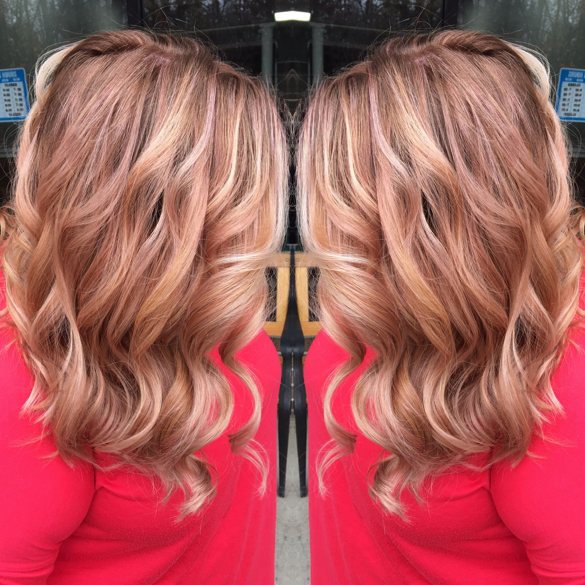 Amshnm Rose Gold Copper Blonde Hair Pink Champagne Beauty Of