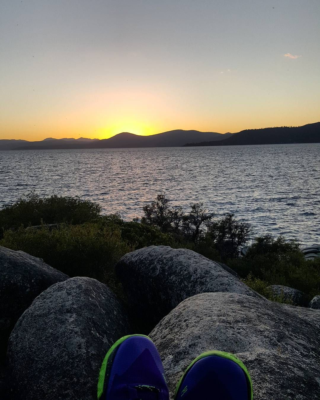 Sunset watching on Lake Tahoe. Hope you guys had a great Wednesday!  #suckitupfitness #sunset #laketahoe