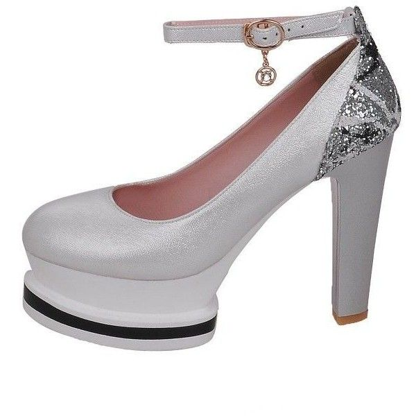 Ankle Strap Platform Pumps ($55) ❤ liked on Polyvore featuring shoes, pumps, ankle wrap shoes, high heel pumps, high heel platform shoes, ankle strap pumps and platform shoes
