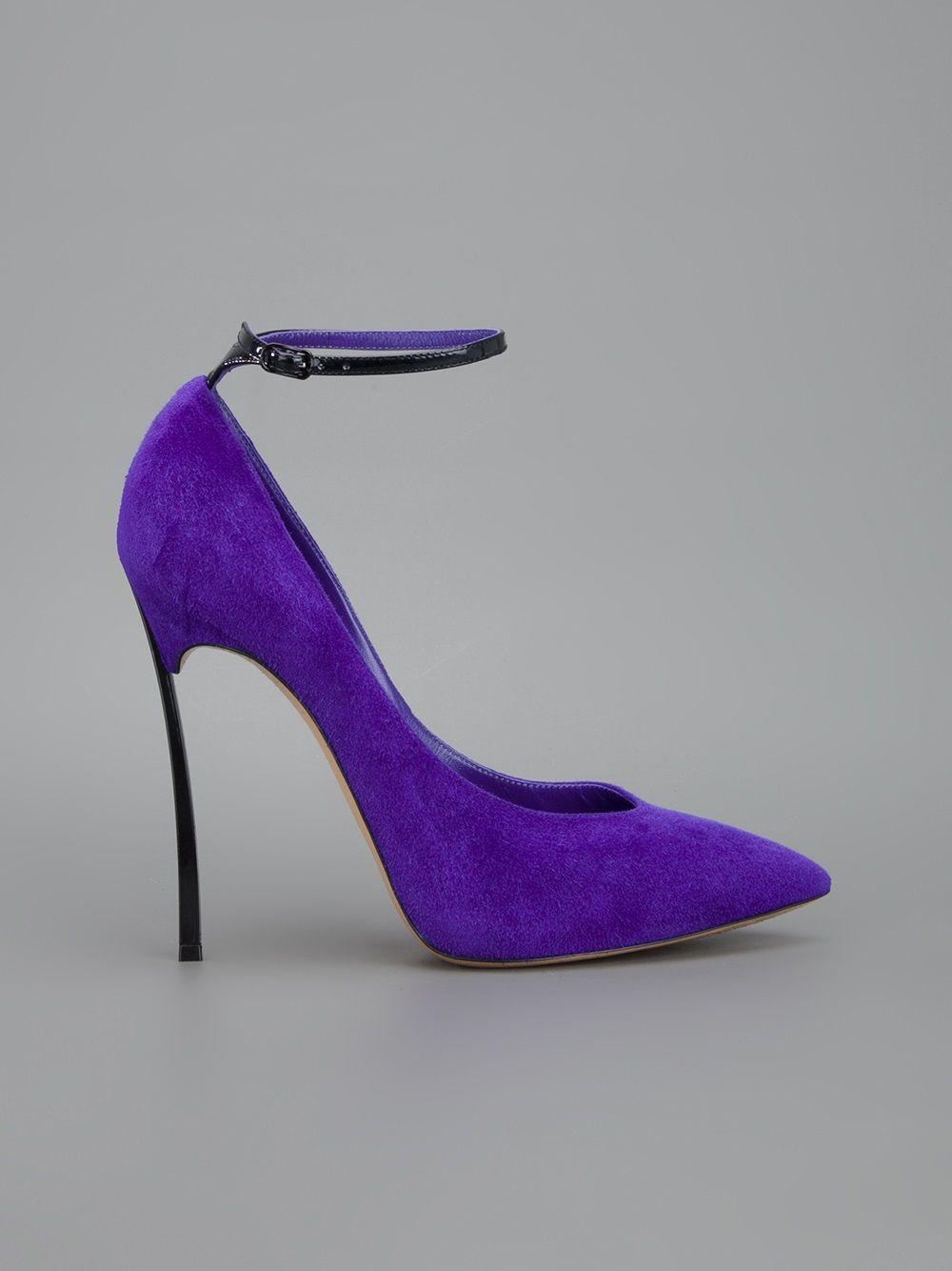 055325117 CASADEI - Sapato roxo. 7 | casadei | Sapatos roxos, Sapatos e ...