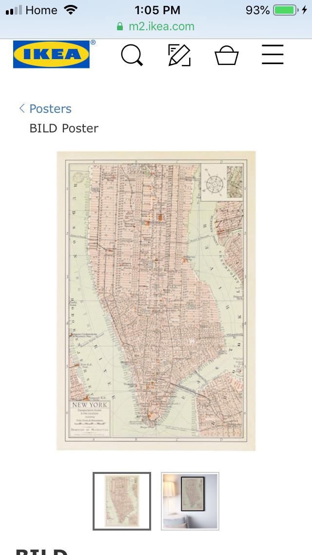 ikea bild poster vintage world maps
