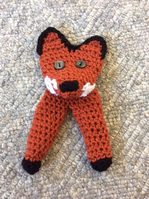 Crocheted Fox Finger Puppet Free Pattern | Crochet finger ...