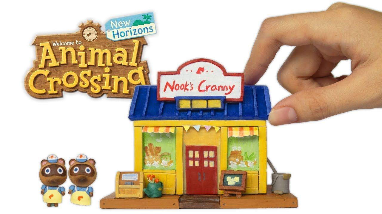 Making animal crossing nooks cranny with clay animal