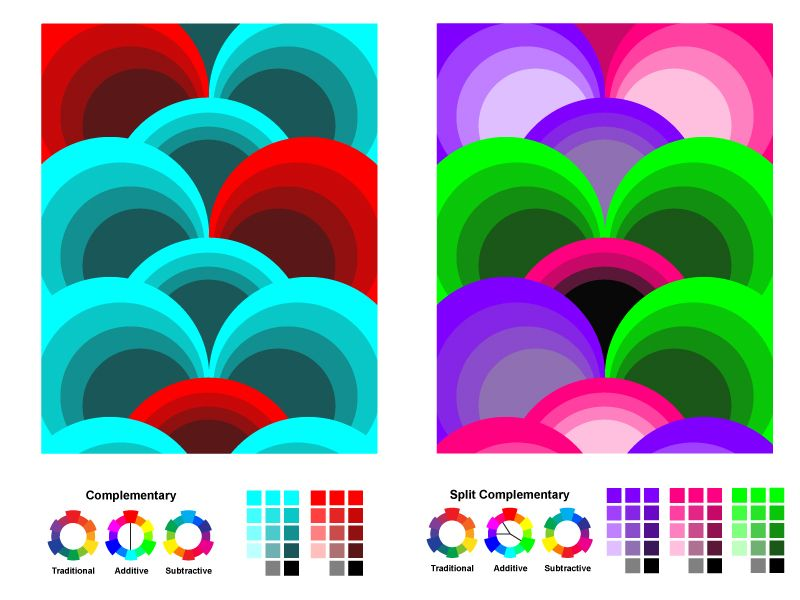 Color Theory Week 3 Assignment Design With Complementary Contrast And Split