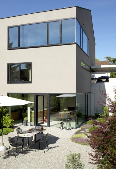 Fassadenfarbe grau modern  Fassadenfarbe Schoener Wohnen Haus 2009. architekt D. oberschelp ...