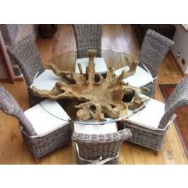 Really Good Saturday Kitchen Table Teak Root Products Pinterest - Teak root dining table base