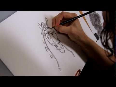 How To Draw Maximus Cartoon Horse Character From Disney S Tangled