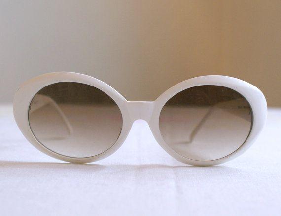 e96171e35e Authentic Italian Ellen TRACY 90s Sunglasses Oversized White satin finish  Designer Glasses Frames - Glamorous Made in Italy - B65 - 06 - 1 on Etsy