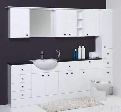fitted bathroom furniture units white gloss wall unit and. Black Bedroom Furniture Sets. Home Design Ideas