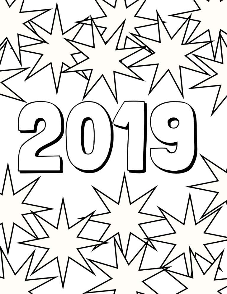 2019 Coloring Page | At Home Preschool | Preschool, Coloring pages ...