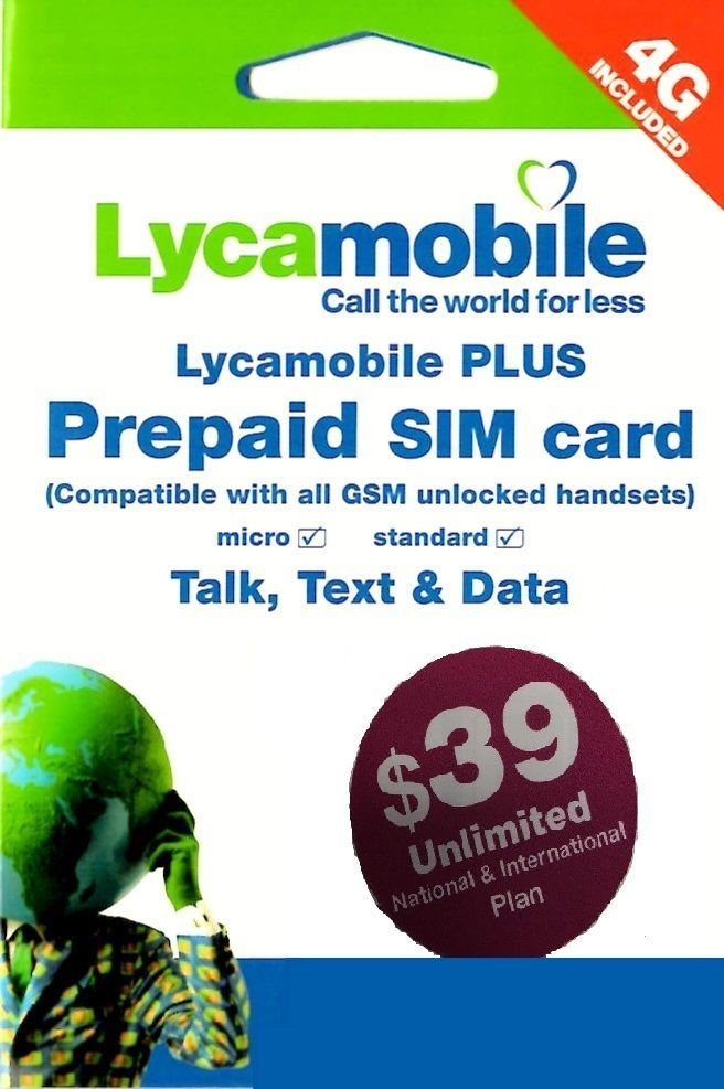 lyca mobile usa prepaid sim card with 1 month 3999 true fully loaded - Prepaid Card Usa