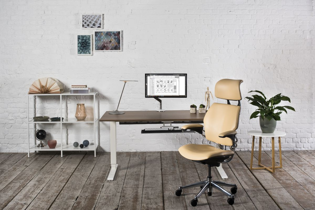 Humanscale Home Office Ideas And Inspiration Diy Sit Stand Desk Freedom Headrest In Leather Relaxing Chill E