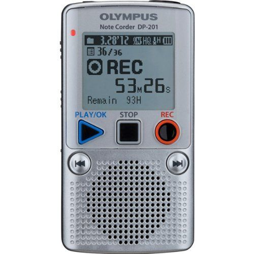 Olympus Dp 201 Digital Voice Recorder By Olympus 32 57 The Dp 201 Maintains The Same Sense Of Convenience And Ease Voice Recorder Recorders Voice Recorders
