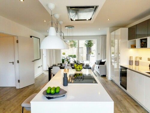 Open Plan Kitchen Inspiration Clean And Modern Open Plan Kitchen Inspiration Open Plan Kitchen Kitchen Inspirations