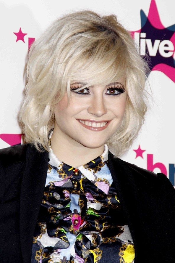 Pixie Lott 2014 - Pixie Lott. The bed-head, mussed-up take on a cute blonde bob is a pop hair dream.