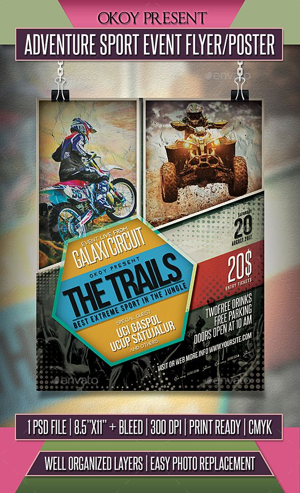 adventure sport event flyer poster template psd advertisement