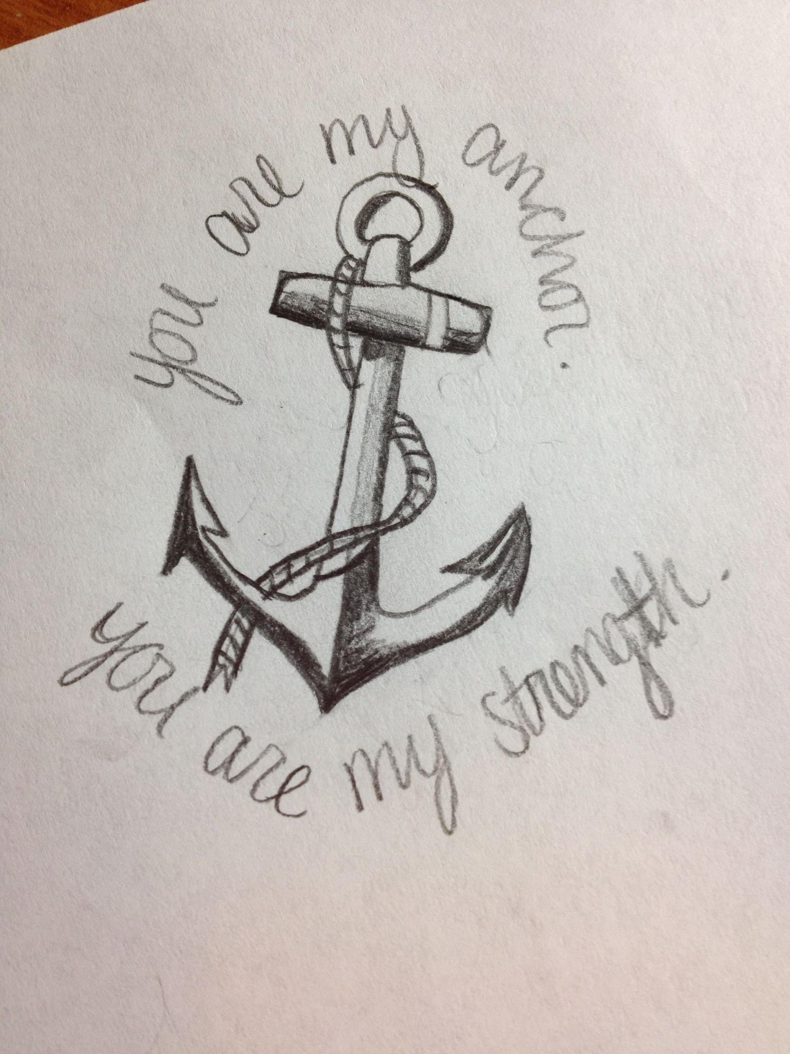 You are my anchor, you are my strength. | Symbol for family ...