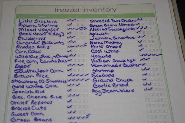 Know What S In Your Freezer Free Printable Freezer Inventory Sheet Freezer Inventory Sheet Freezer Organization Freezer