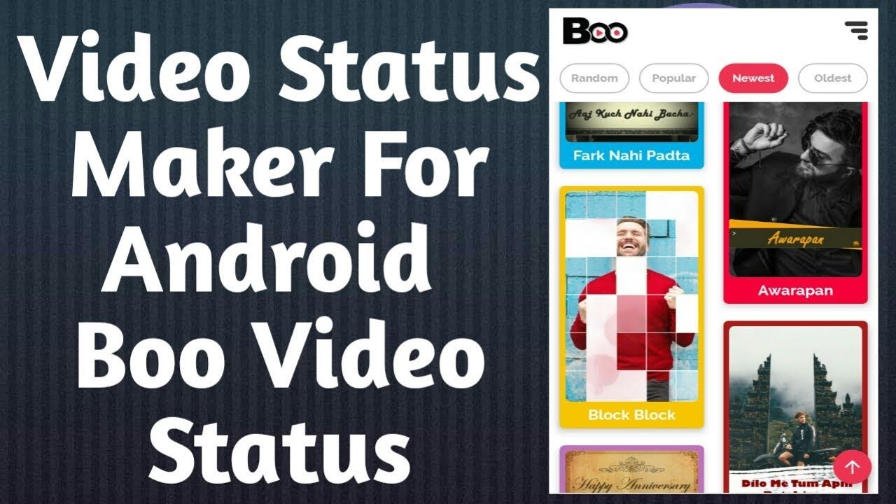 Whatsapp Video Status Maker How To Use Boo Video Status