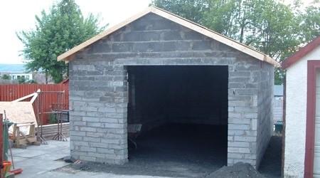 Garage En Parpaing De 20m2 Shed Interior Yard Project Shed