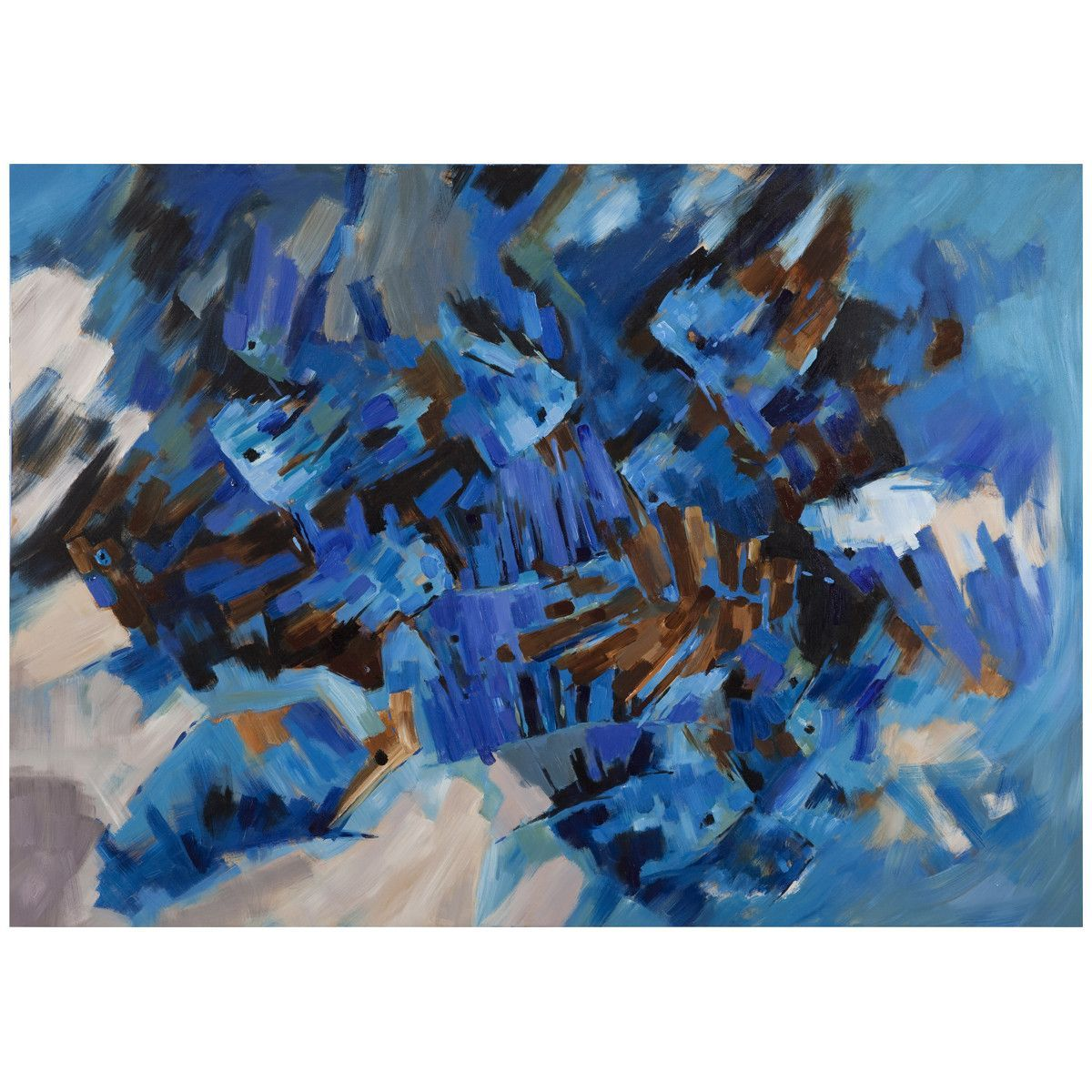 Bassett Mirror Thoroughly Modern Brilliant Blue Art