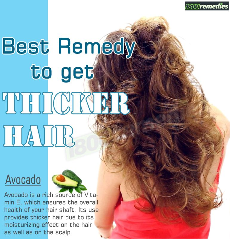 how to get thick hair home remedies