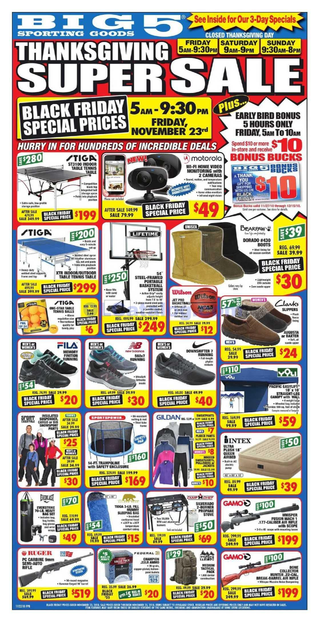 Big 5 Black Friday Ad Flyer 2018 Do You Know What S In And What S Hot In The Big 5 For This Black Friday If You Haven T Using The Store S Weekly Advertisemen