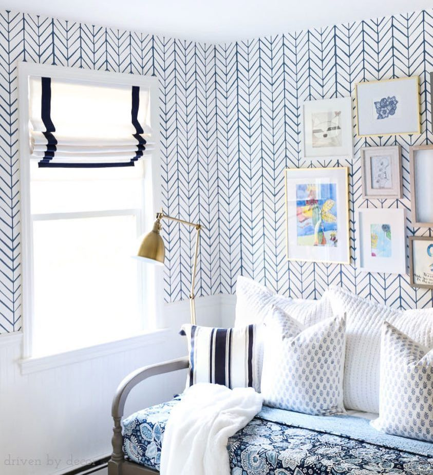 House Of Blues Photo By Drivenbydecor Featuring Our Beloved Feather Wallpaper Serenaandl Girls Bedroom Wallpaper Boys Room Wallpaper Boys Bedroom Wallpaper