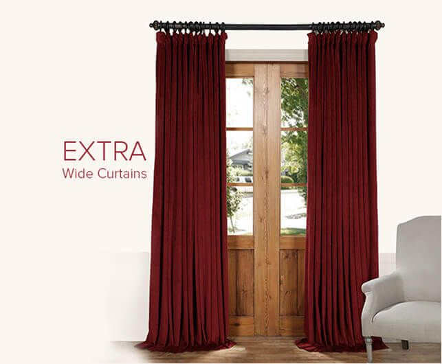 Extra Wide Curtains