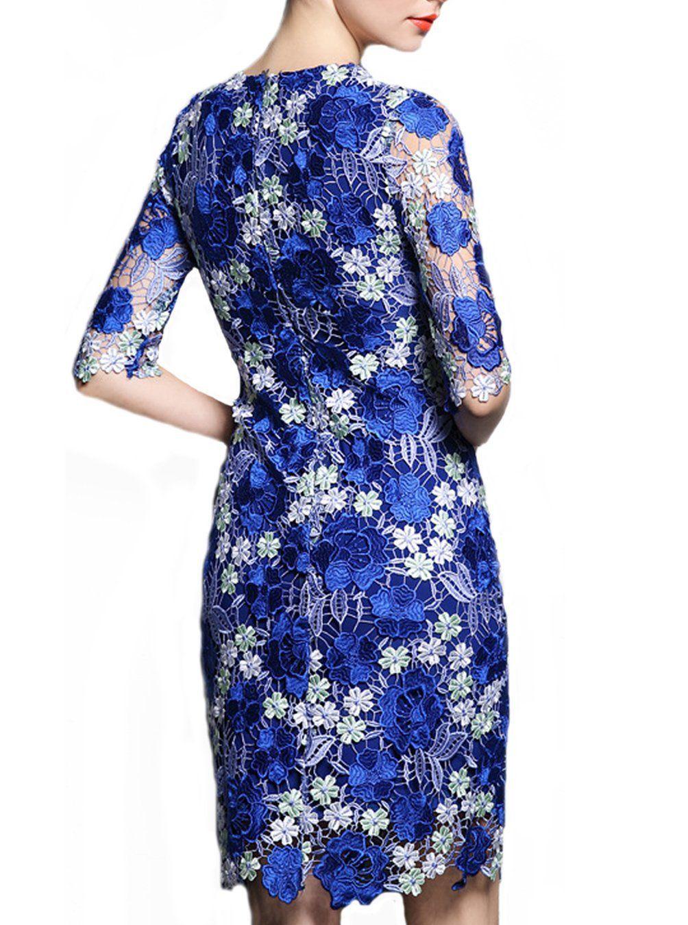 Viva la womenus midlength sleeves scoop tulle with embroidery prom