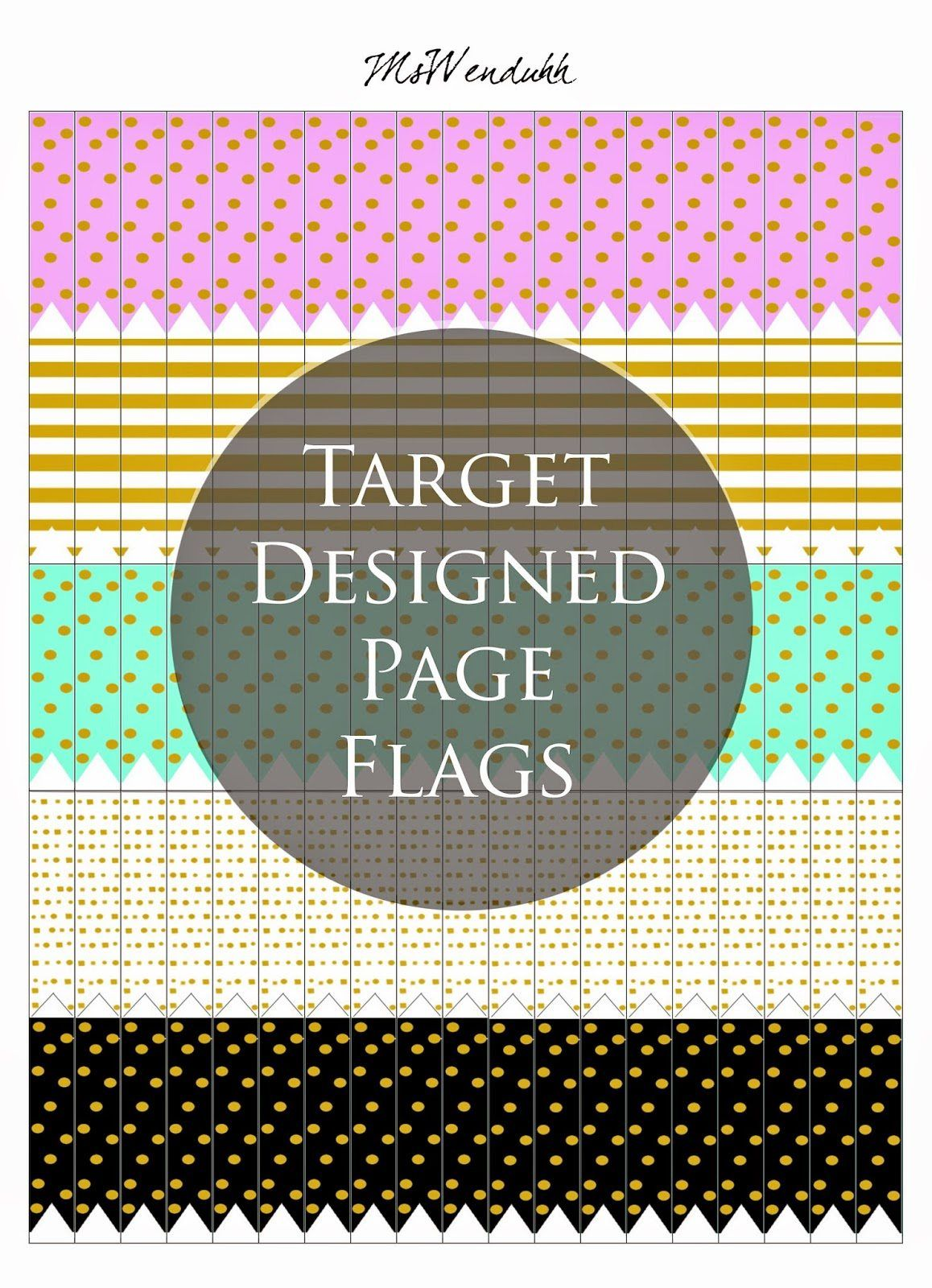 Calendar Planner Target : Target design page flags planners productivity and target
