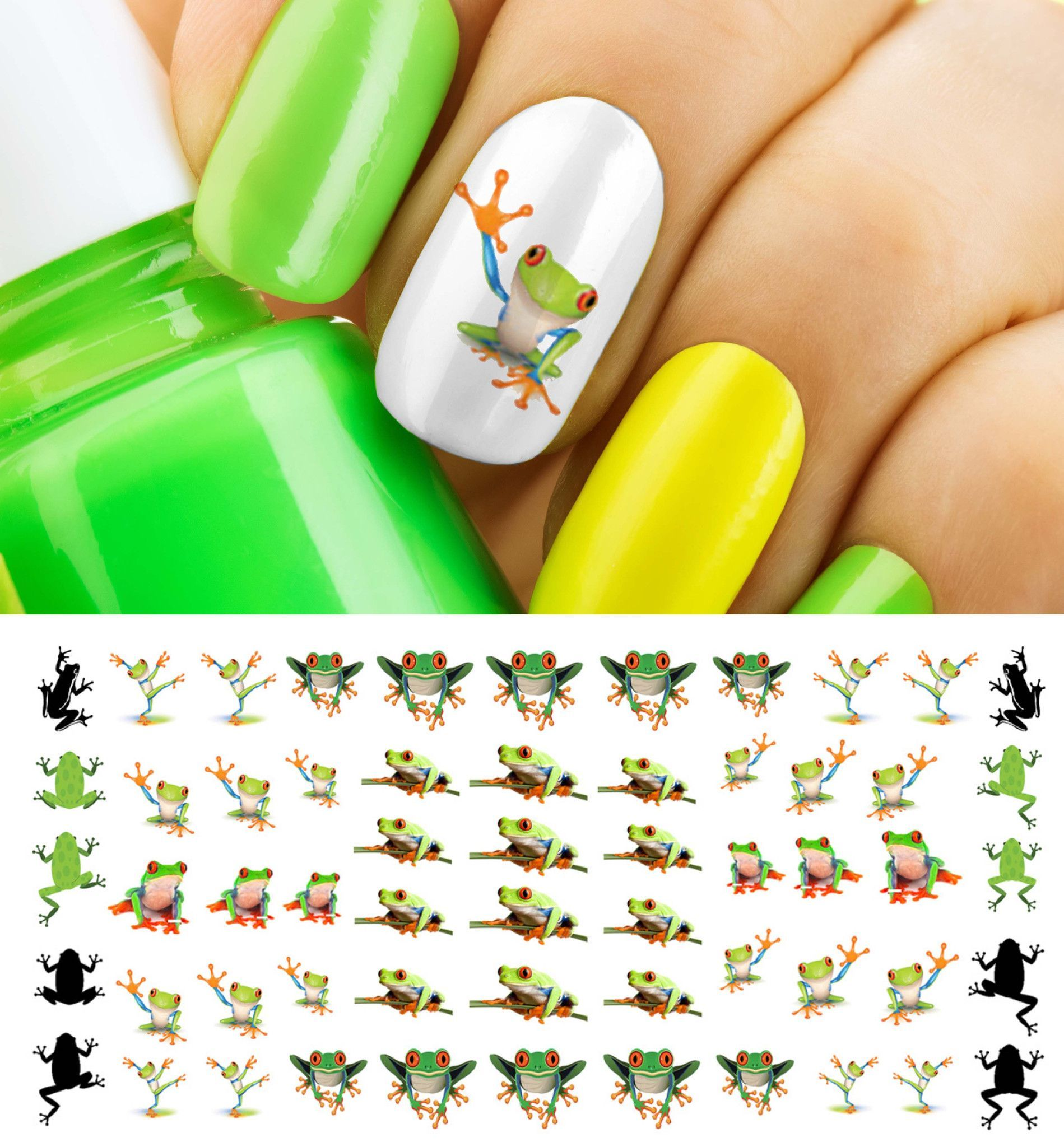Tree Frog Nail Art Decals | Tutoriales