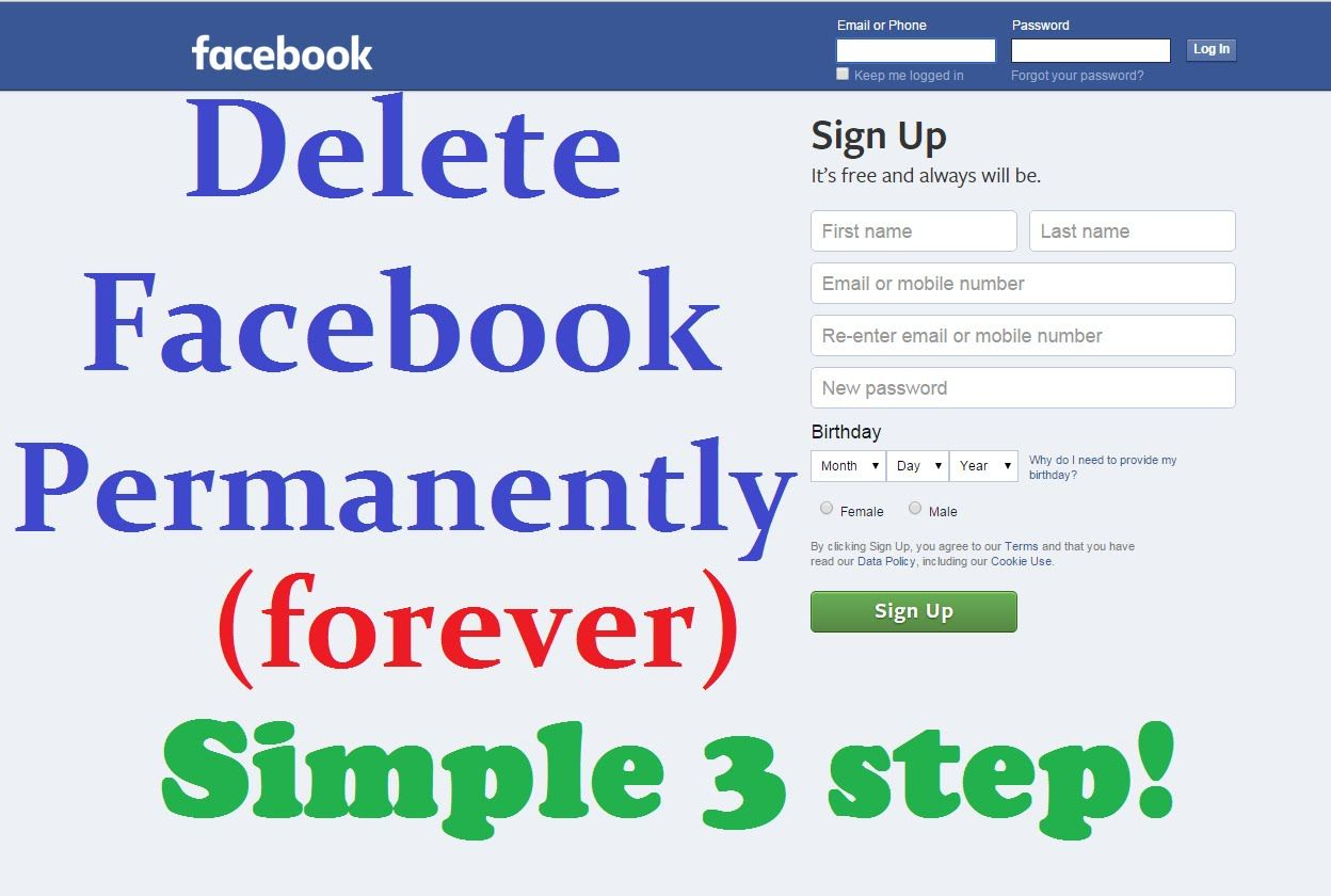 How to delete Facebook account forever  Delete facebook, Forever