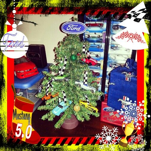 My Sons Ford Mustang Christmas Tree In His Bedroom Hot