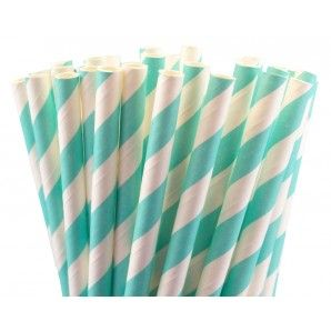 #Tiffany Blue Paper Straws